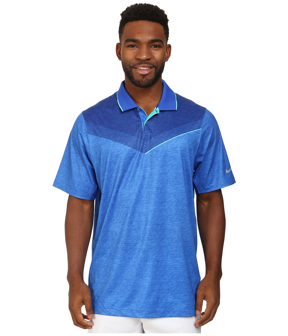 Nike Golf - Major Moment Launch Polo (Lyon Blue/Light Retro/Wolf Grey) Men's Short Sleeve Knit