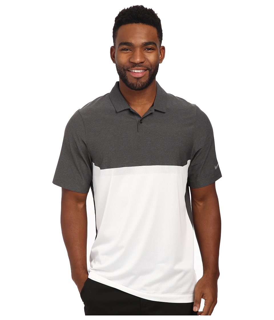 Nike Golf - Major Moment Tactical Polo (Black/White/Black/Wolf Grey) Men's Clothing