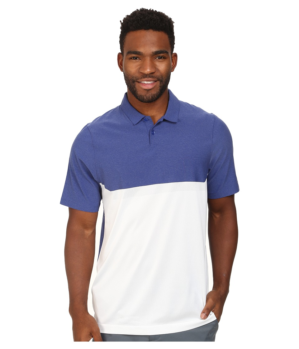 Nike Golf - Major Moment Tactical Polo (Deep Royal Blue/White/Deep Royal Blue/Wolf Grey) Men's Clothing