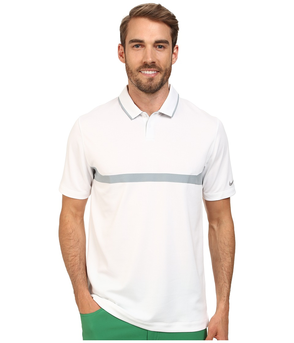 Nike Golf - Major Moment Ace Polo (White/Dove Grey/Wolf Grey) Men's Short Sleeve Knit