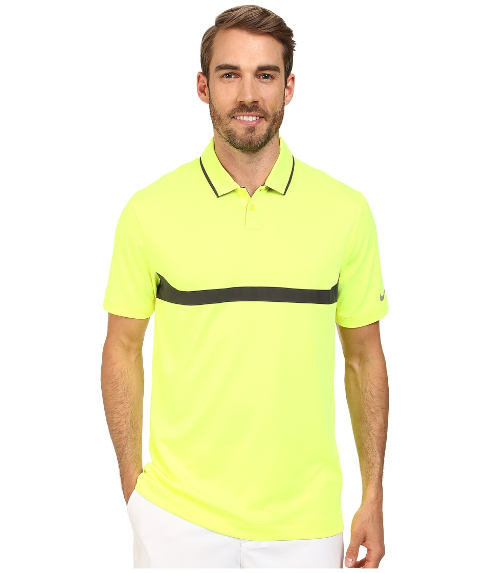 Nike Golf - Major Moment Ace Polo (Volt/Anthracite/Wolf Grey) Men's Short Sleeve Knit
