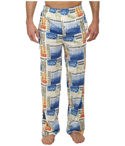 Tommy Bahama - World Traveler Lounge Pants (Ivory Multi) Men