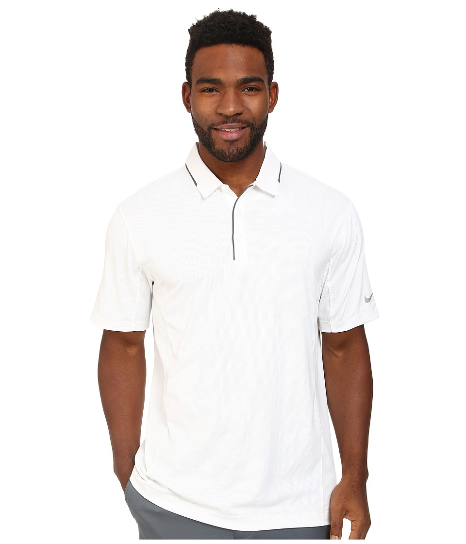 Nike Golf - Tech Tipped Polo (White/Dark Grey/Wolf Grey) Men's Short Sleeve Pullover