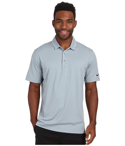 Nike Golf - Tech Tipped Polo (Dove Grey/White/Anthracite) Men