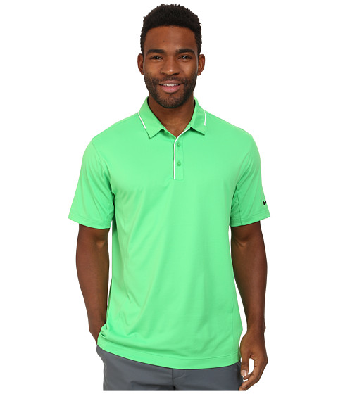 Nike Golf - Tech Tipped Polo (Light Green Spark/White/Anthracite) Men