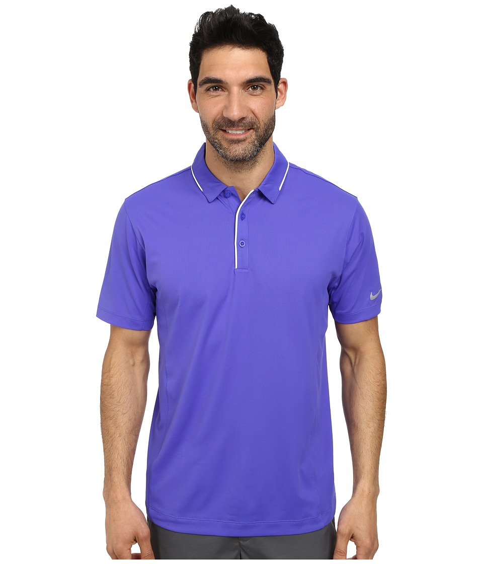 Nike Golf - Tech Tipped Polo (Persian Violet/White/Wolf Grey) Men's Short Sleeve Pullover