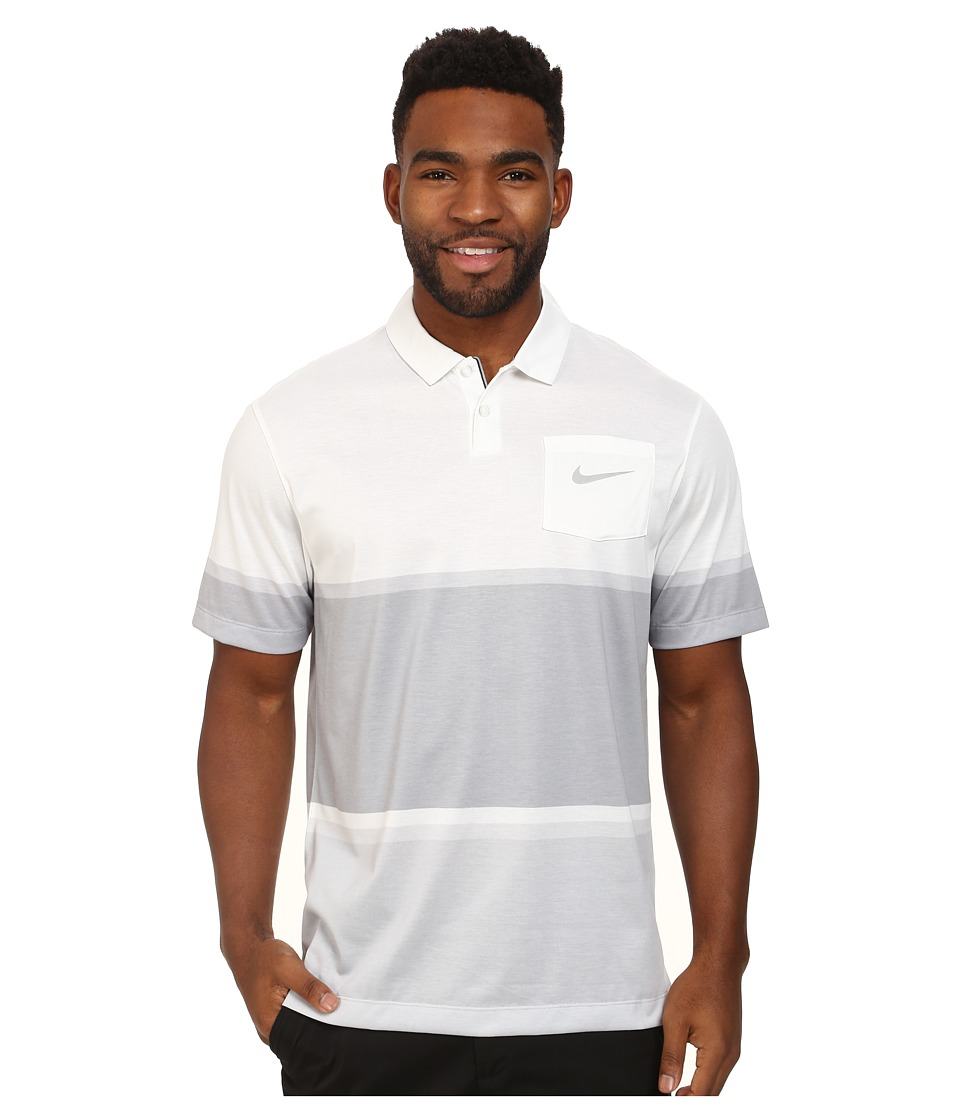 Nike Golf - Patch Pocket Polo (White/Wolf Grey) Men's Short Sleeve Pullover
