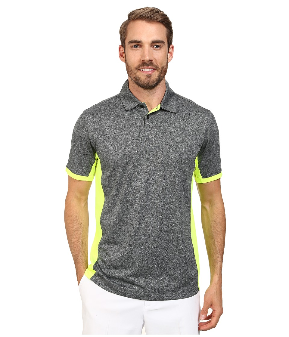 Nike Golf - Victory Block Polo (Black/Heather/Volt/Wolf Grey) Men's Short Sleeve Knit