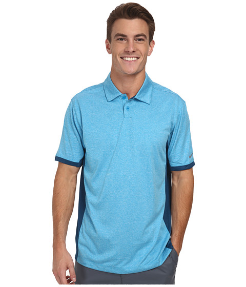Nike Golf - Victory Block Polo (Light Blue Lacquer/Heather/Blue Force/Wolf Grey) Men's Short Sleeve Knit