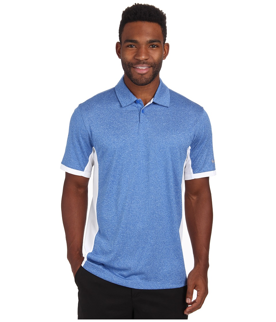 Nike Golf - Victory Block Polo (Game Royal/Heather/White/Wolf Grey) Men