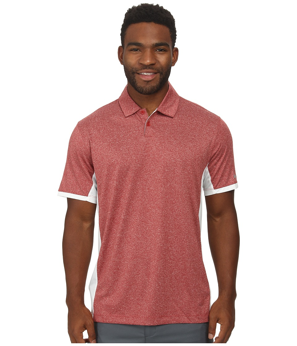 Nike Golf - Victory Block Polo (Team Crimson/Heather/White/Wolf Grey) Men