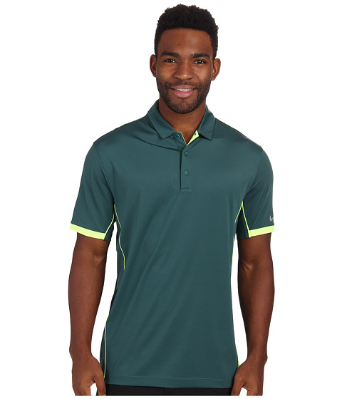 Nike Golf - Tech Ultra Polo (Dark Emerald/Volt/Wolf Grey) Men