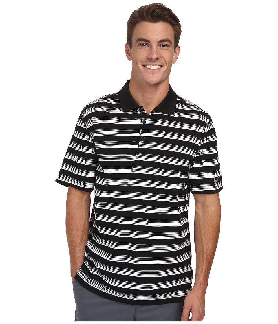 Nike Golf - Tech Vent Stripe Polo (Black/Anthracite/Wolf Grey) Men's Short Sleeve Knit
