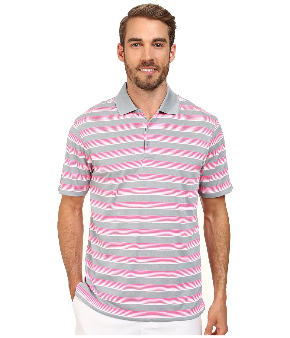 Nike Golf - Tech Vent Stripe Polo (Dove Grey/Pink Pow/Anthracite) Men's Short Sleeve Knit