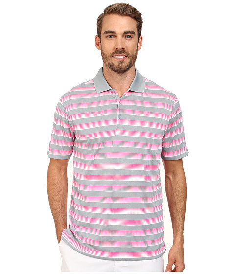 Nike Golf - Tech Vent Stripe Polo (Dove Grey/Pink Pow/Anthracite) Men