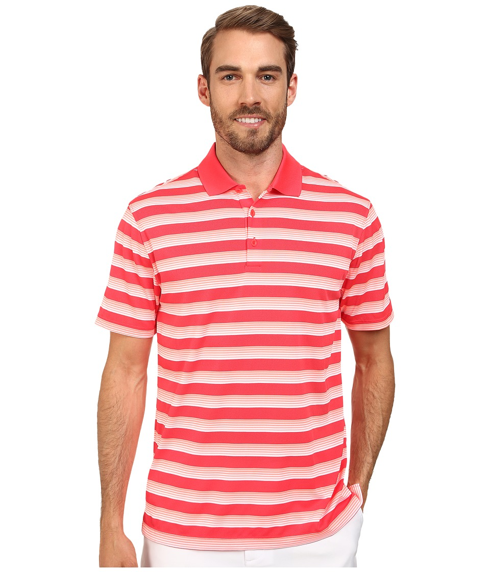 Nike Golf - Tech Vent Stripe Polo (Daring Red/Hot Lava/Anthracite) Men