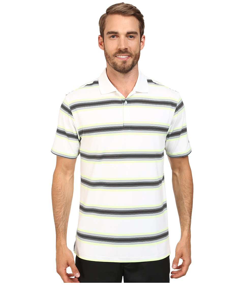 Nike Golf - Tech Ultra Stripe Polo (White/White/Wolf Grey) Men