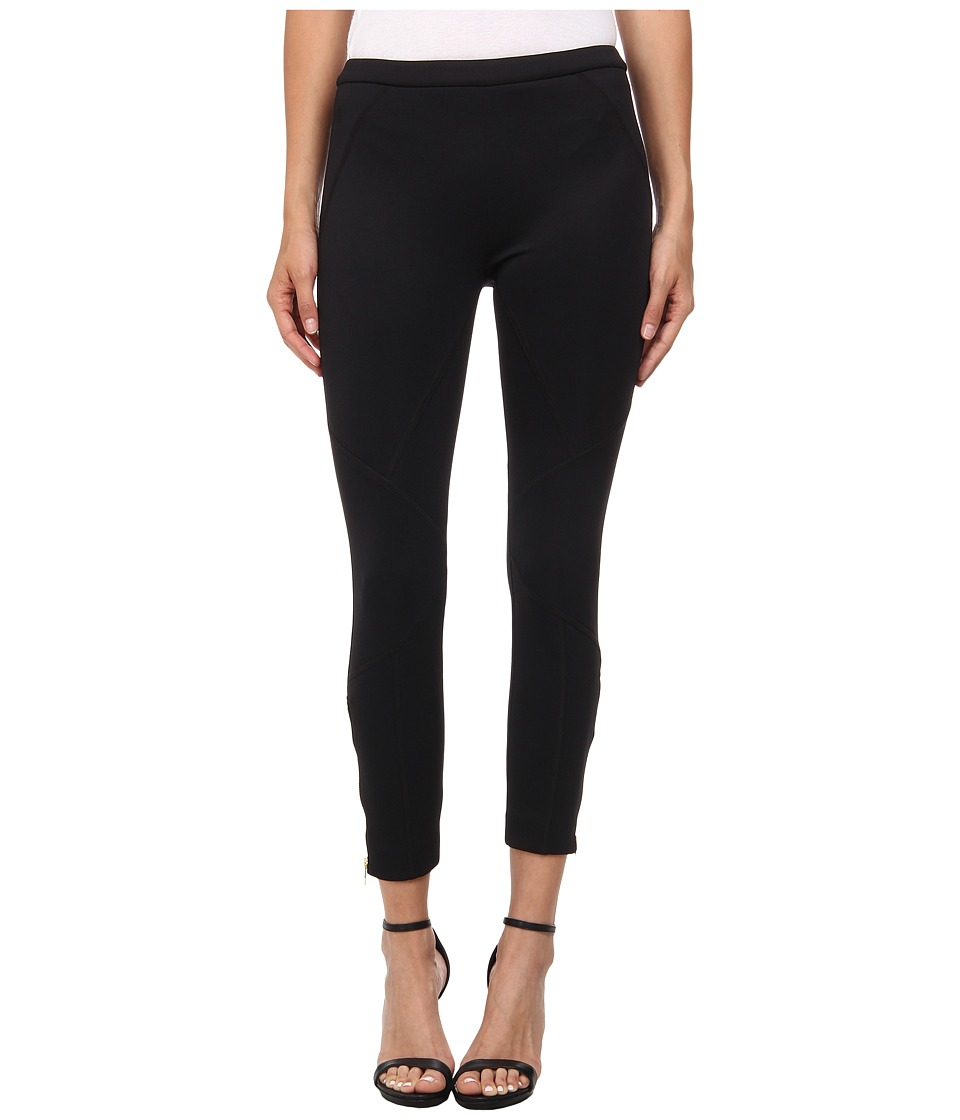 Versace Collection - Trouser with Seaming Details (Nero) Women's Casual Pants