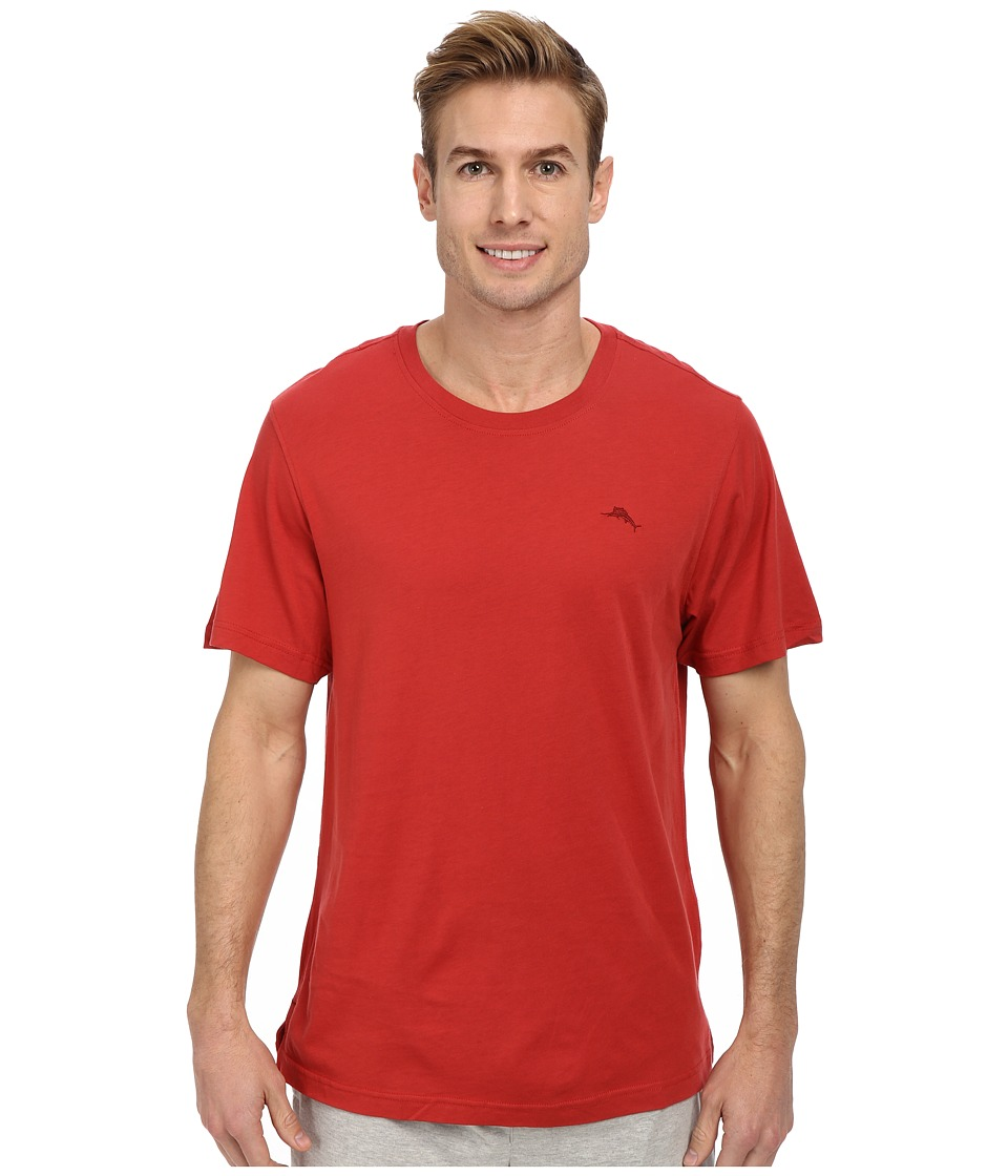 Tommy Bahama - Solid Cotton Modal Jersey S/S Tee (Red) Men's T Shirt