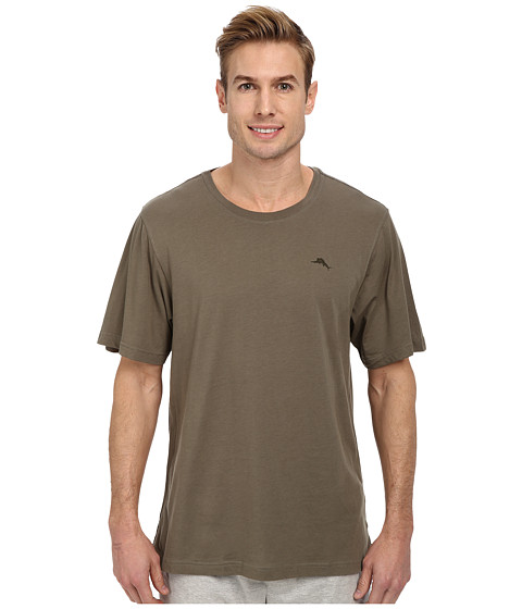Tommy Bahama - Solid Cotton Modal Jersey S/S Tee (Green) Men