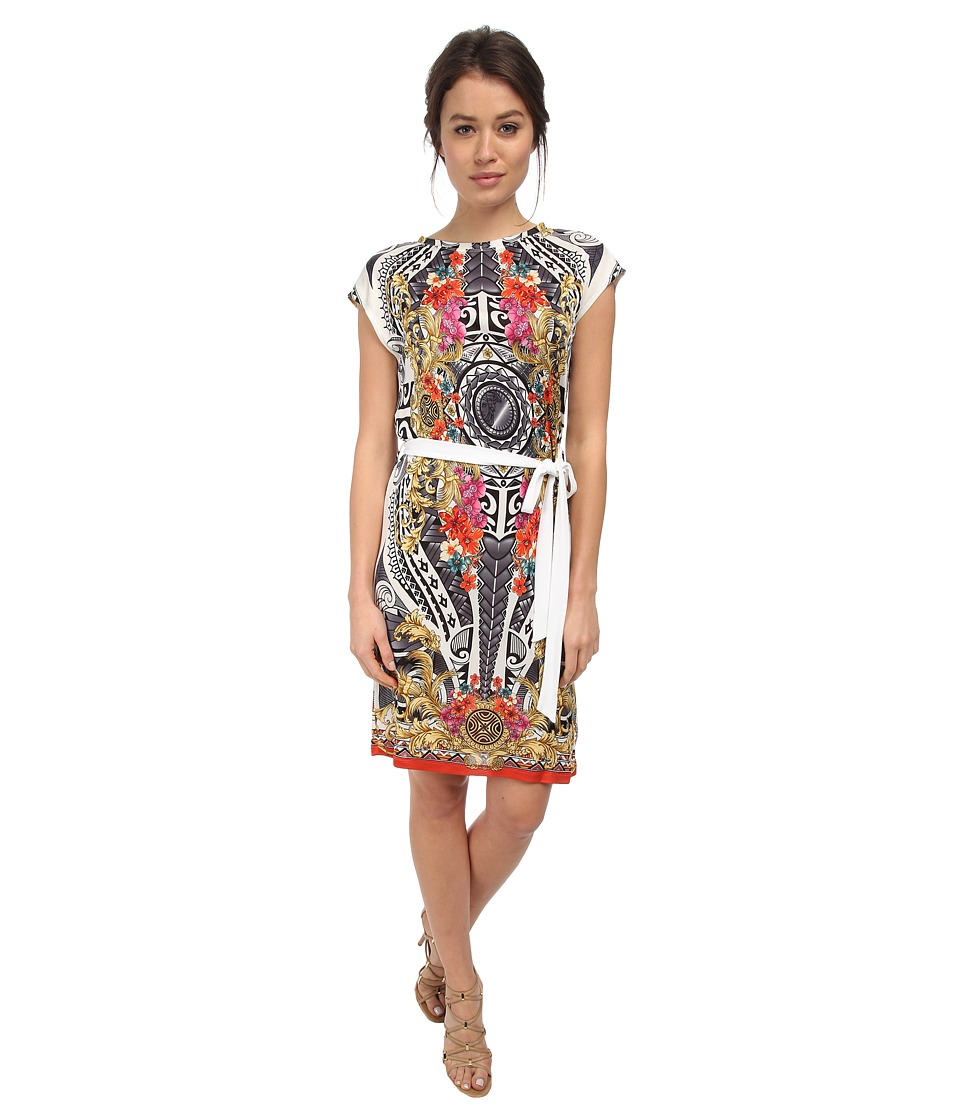 Versace Collection - S/S Graphic Print Shirtdress (Bianco Print) Women's Dress