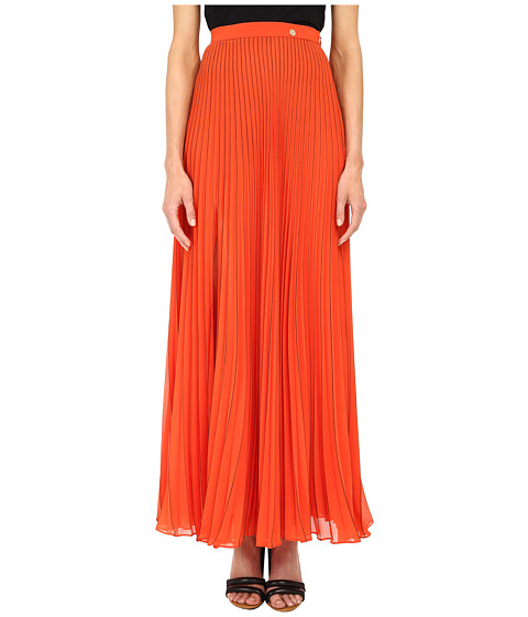Versace Collection - Pleated Maxi Skirt (Nero) Women