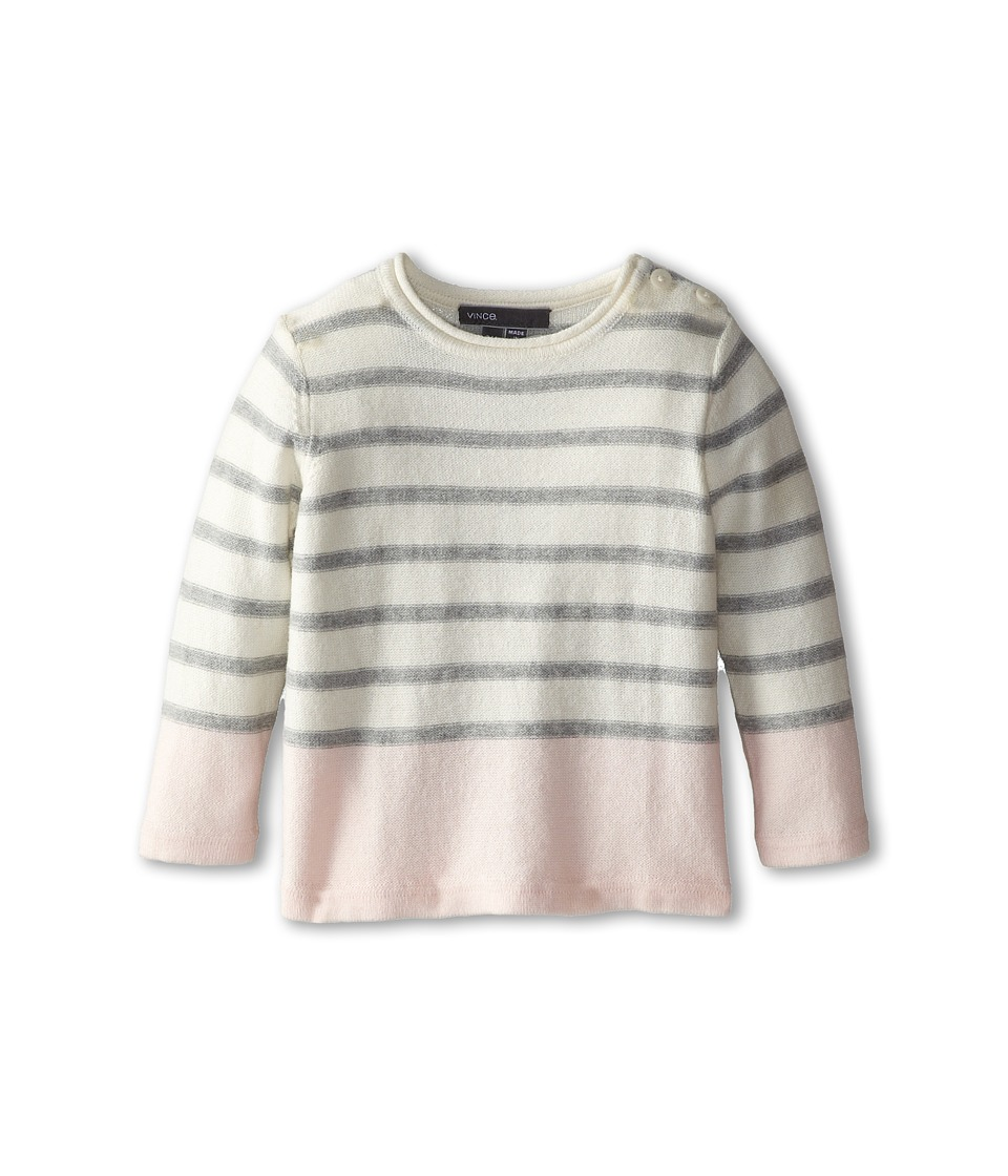 Vince Kids - Color Blocked Stripe Sweater (Infant) (Powder Pink Stripe) Girl's Sweater