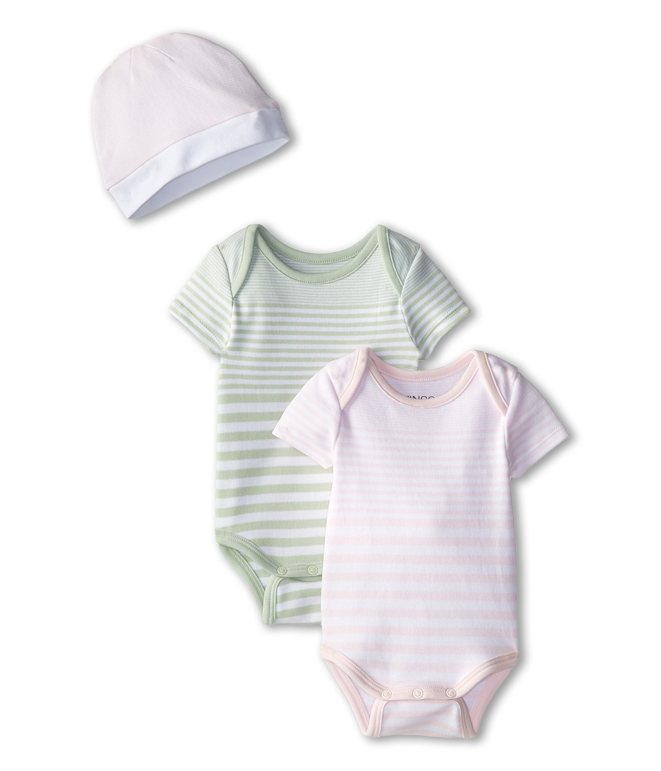 Vince Kids - One-Piece+Hat Box Set (Infant) (Organdy/Green Mist) Girl
