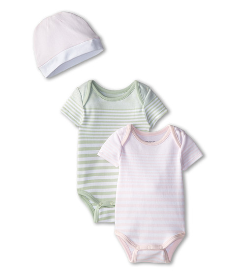 Vince Kids - One-Piece+Hat Box Set (Infant) (Organdy/Green Mist) Girl's Pajama Sets