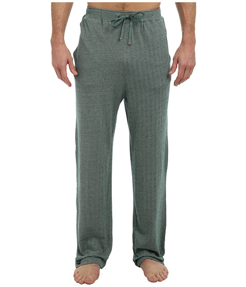 Tommy Bahama - Yarn Dye Knit Herringbone Lounge Pant (Pine Dark Green) Men