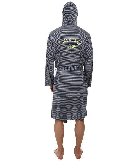 Tommy Bahama - Yarn Dye Feeder Stripe Cotton L/S Wrap (Island Stripe Blue Grey Multi Stripe) Men