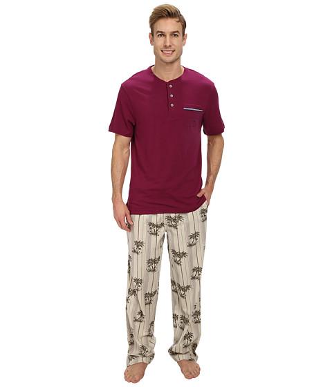 Tommy Bahama - Scattered Palms Stripe Pajama Set (Green) Men