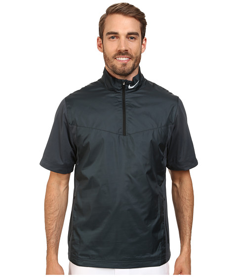 Nike Golf - Shield S/S 1/2-Zip (Classic Charcoal/Black/Wolf Grey) Men