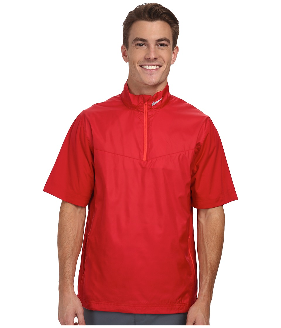 Nike Golf - Shield S/S 1/2-Zip (Gym Red/Daring Red/Wolf Grey) Men