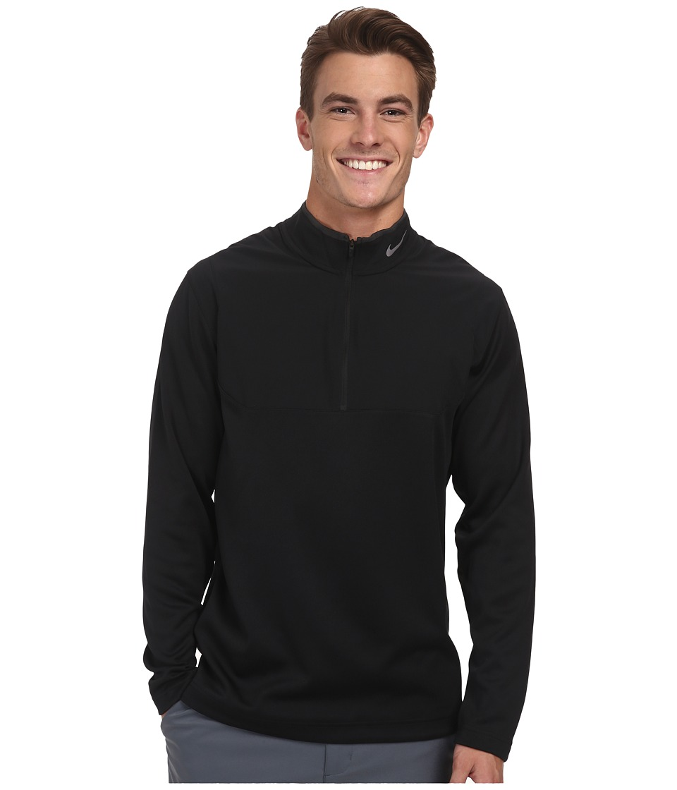 Nike Golf - Dri-Fit 1/2-Zip Top (Black/Black/Black/Wolf Grey) Men's Long Sleeve Pullover