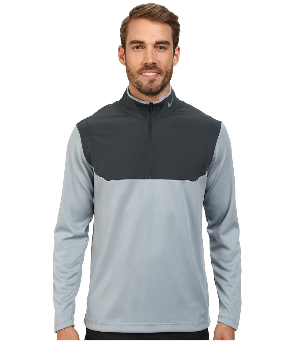 Nike Golf - Dri-Fit 1/2-Zip Top (Dove Grey/Classic Charcoal/Classic Charcoal/Wolf Grey) Men's Long Sleeve Pullover