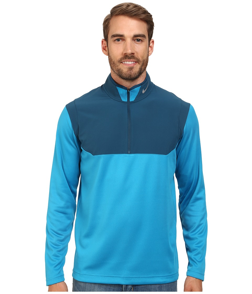 Nike Golf - Dri-Fit 1/2-Zip Top (Light Blue Lacquer/Blue Force/Blue Force/Wolf Grey) Men's Long Sleeve Pullover