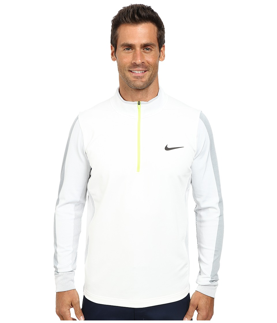 Nike Golf - Therma-Fit Engineer 1/2-Zip Top (White/Volt/Anthracite) Men