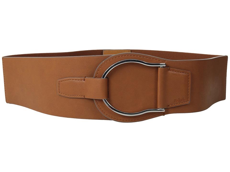 LAUREN by Ralph Lauren - Stretch 2 1/2 Equestrian Stretch (Tan) Women's Belts