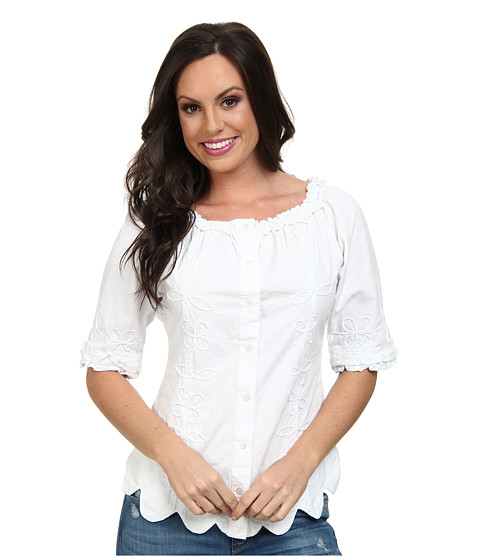 Scully - Cantina Jocelyn Blouse (White) Women's Blouse