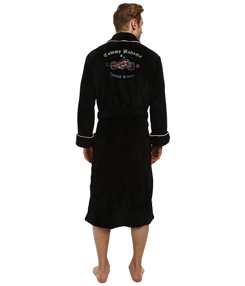 Tommy Bahama - Island Riders Plush Robe (Black) Men's Robe