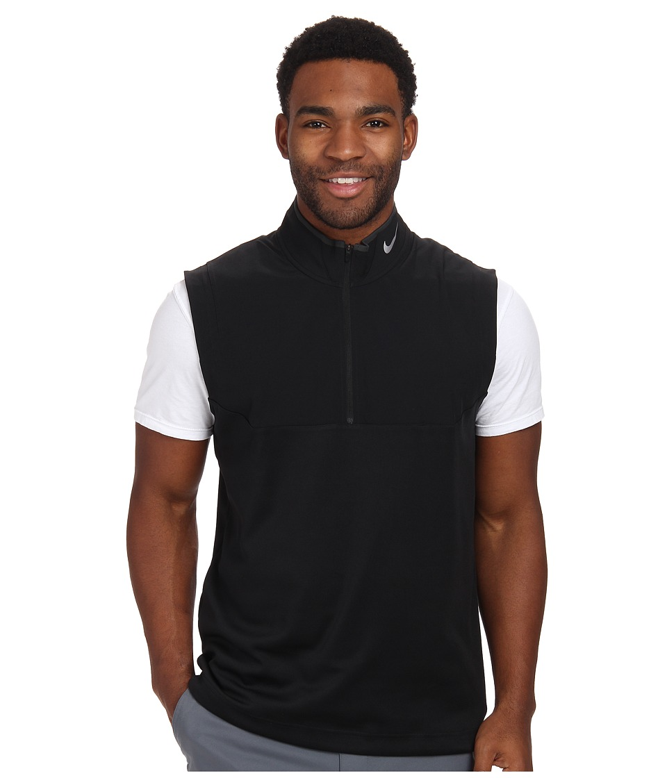 Nike Golf - Dri-FIT 1/2-Zip Vest (Black/Black/Black/Wolf Grey) Men's Vest