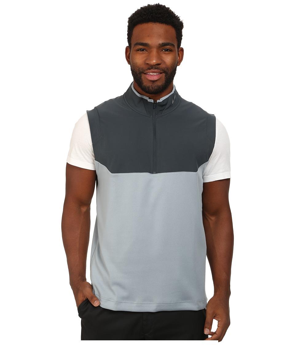 Nike Golf - Dri-FIT 1/2-Zip Vest (Dove Grey/Classic Charcoal/Classic Charcoal/Wolf Grey) Men