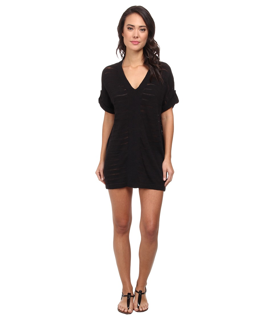Tommy Bahama - V-Neck Tab Sweater Cover-Up (Black) Women