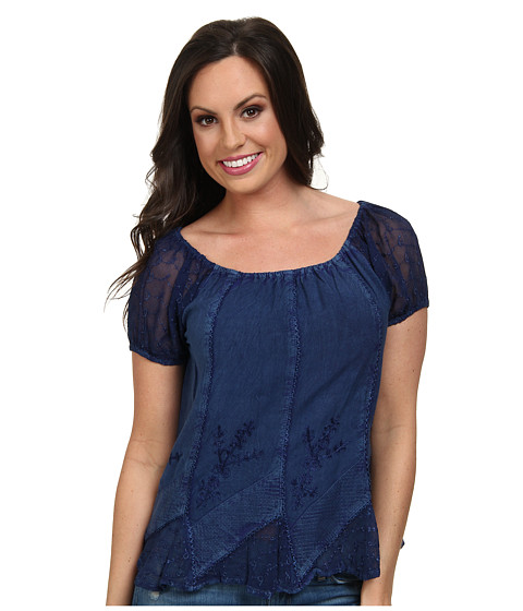 Scully - Honey Creek Caitlyn Top (Blue) Women's Blouse