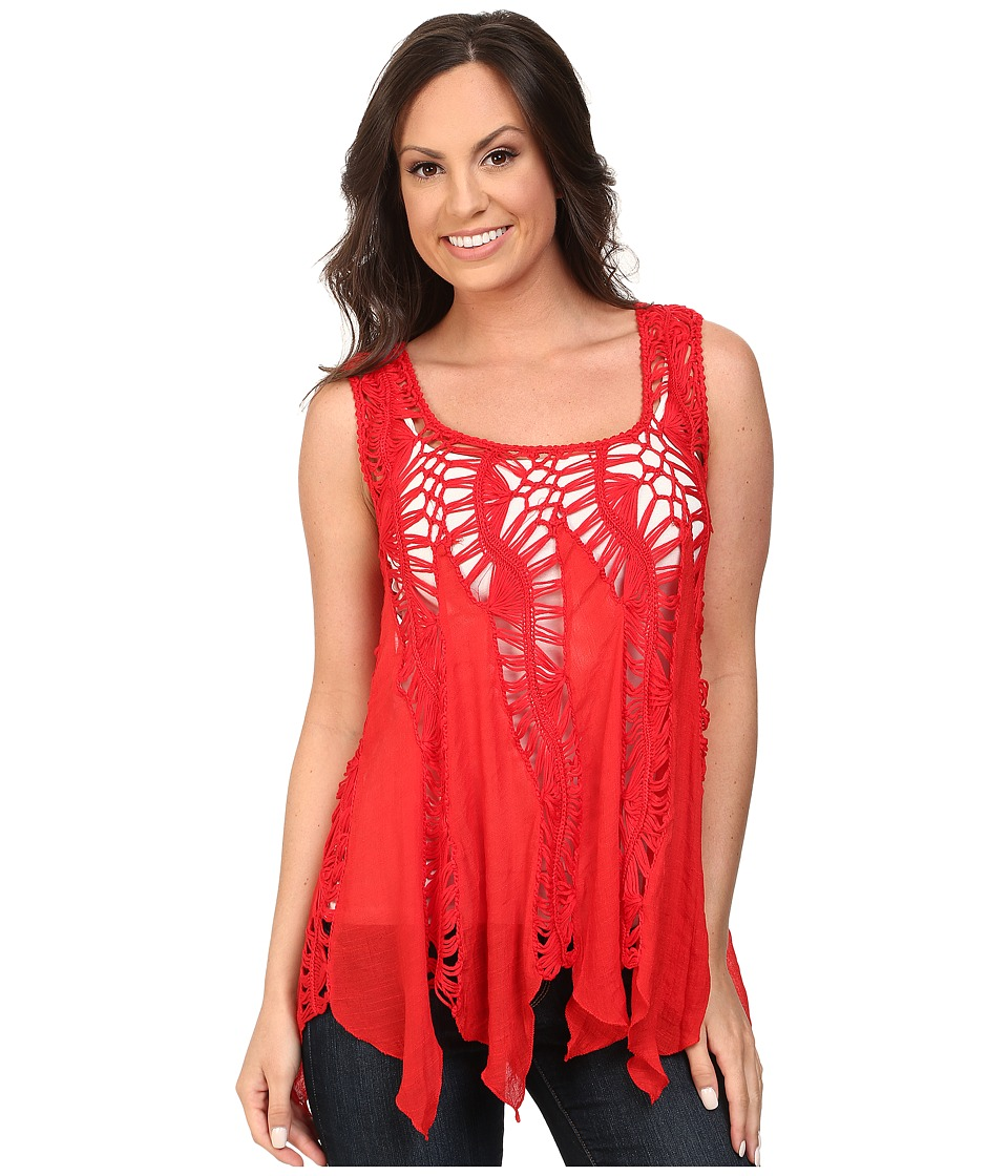 Scully - Honey Creek Kayla Crochet Top (Red) Women's Clothing