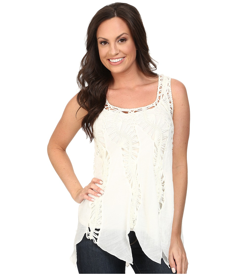 Scully - Honey Creek Kayla Crochet Top (Ivory) Women's Clothing