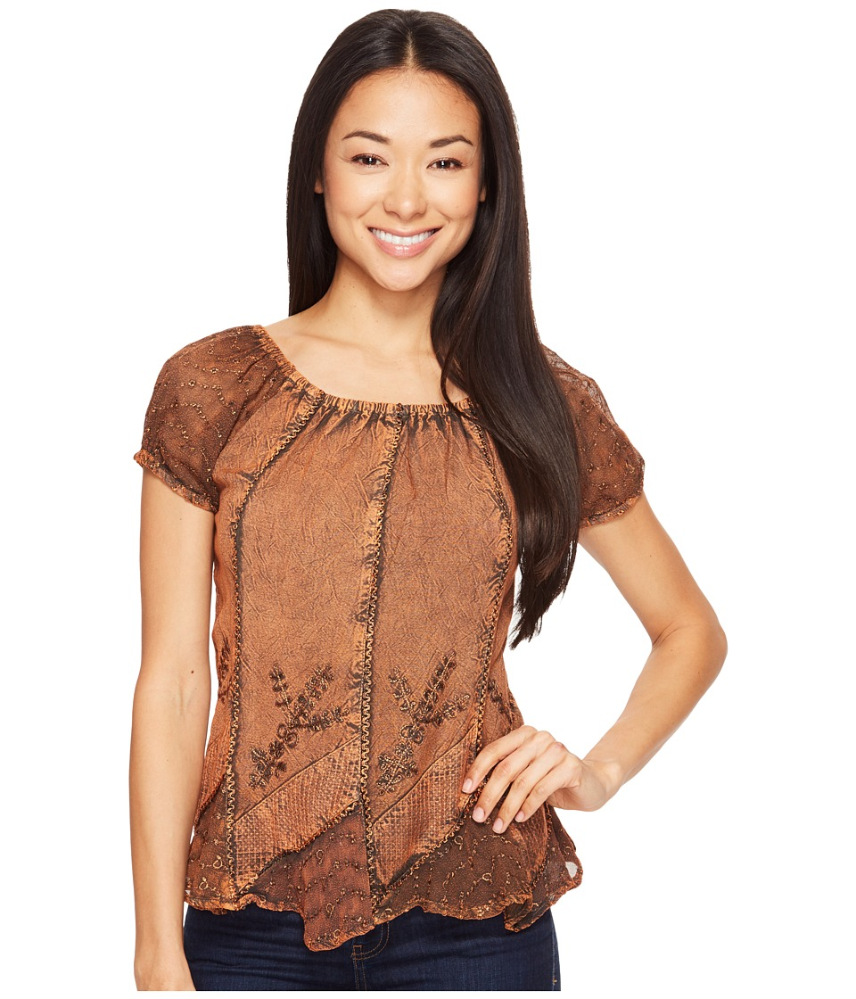 Scully - Honey Creek Caitlyn Top (Copper) Women's Blouse