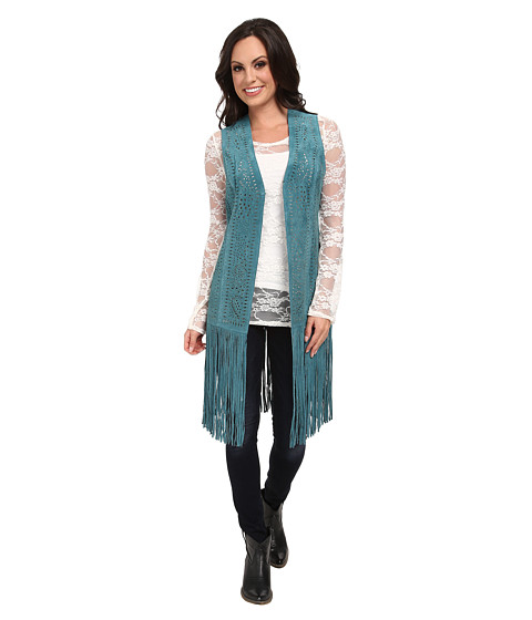 Scully - Fringe Retro Vest (Turquoise) Women's Vest