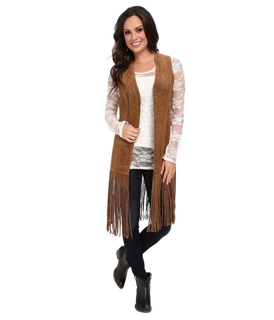 Scully - Fringe Retro Vest (Cinnamon) Women's Vest